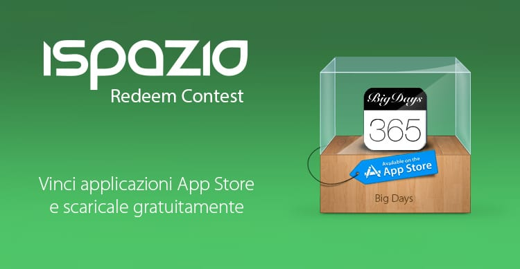 big-days-ispazio-redeem-contest
