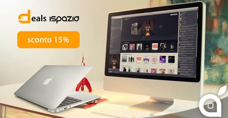 deals iSpazio: iMac 21,5″ e MacBook Air 13″ scontati del 15% da Euronics su eBay
