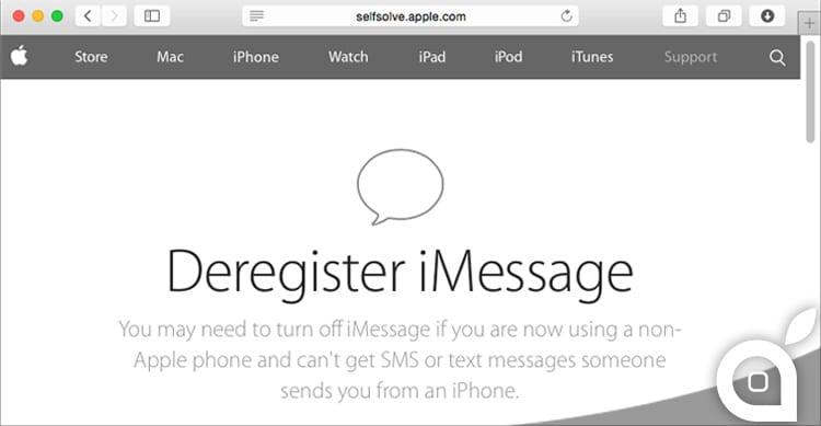 Apple rilascia il Deregister iMessage, per cancellare il proprio numero di telefono dal server di iMessage