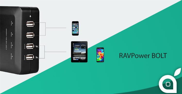 iSpazio-MR-RAVPower caricatore bolt-home