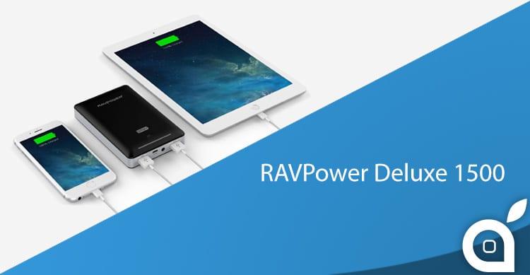 Potente batteria per iPhone RAVPower Deluxe 15000 in sconto con deals iSpazio