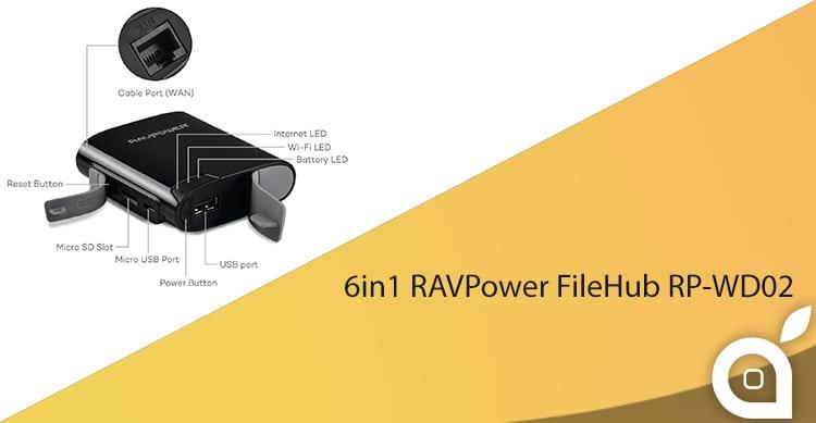 deals iSpazio sconta RAVPower FileHub 6in1: batteria, router Wi-Fi e tanto altro