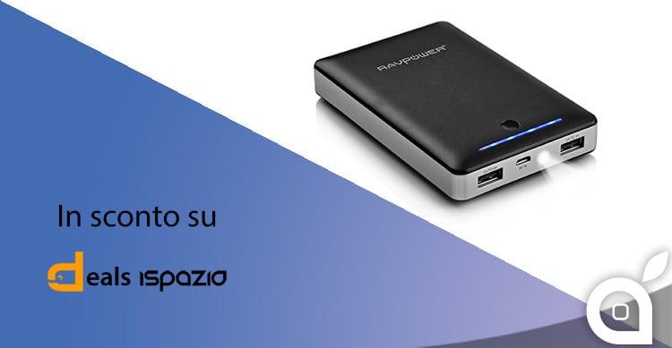Deals iSpazio sconta la batteria RAVPower Deluxe 13000 mAh con ricarica intelligente