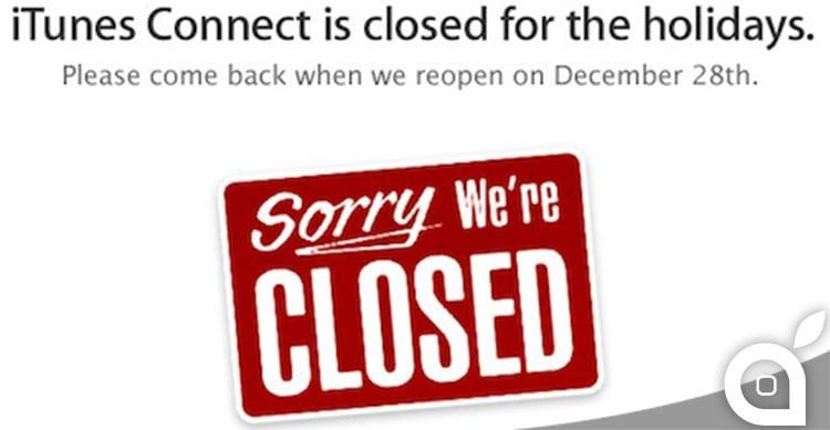Apple annuncia la chiusura di iTunes Connect dal 22 al 29 Dicembre