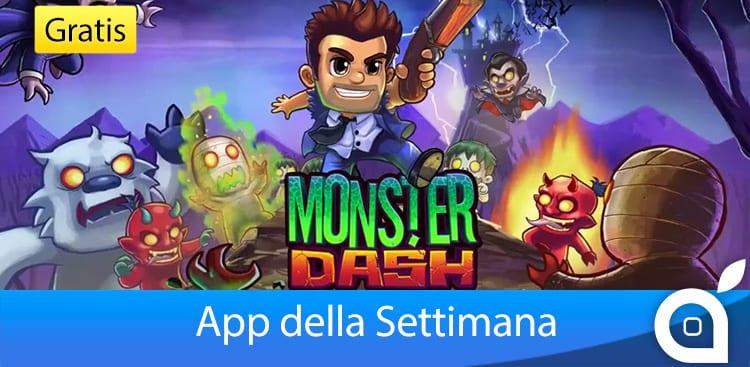 """Apple rende gratuita l'app """"Monster Dash"""" per 7 giorni con l'App della Settimana. Approfittatene! [Video]"""