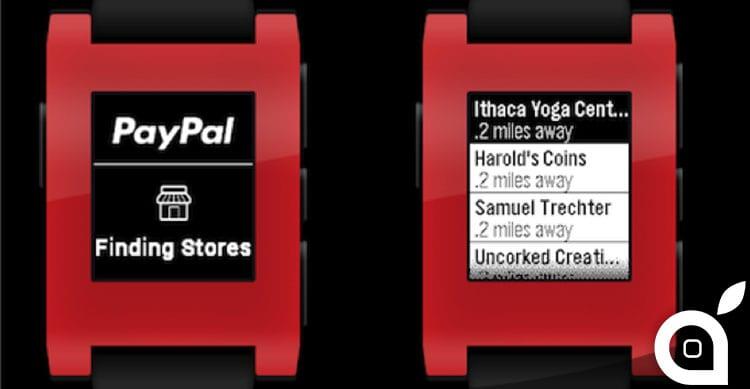 PayPal colpisce Apple e lancia un'app per lo smartwatch Pebble per i pagamenti in-store