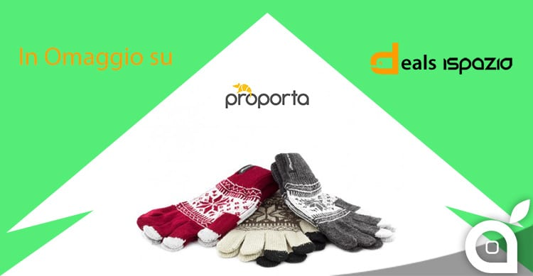 Come avere in omaggio i guanti Proporta per il touchscreen dell'iPhone – offerta lampo deals iSpazio