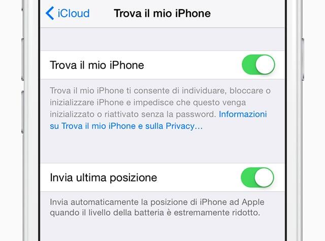 iOS 8 Tips: Come inviare l'ultima posizione automaticamente quando un telefono smarrito si scarica