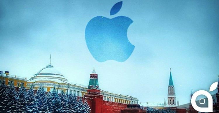 Apple aumenta il prezzo delle app in Russia a causa del crollo del rublo