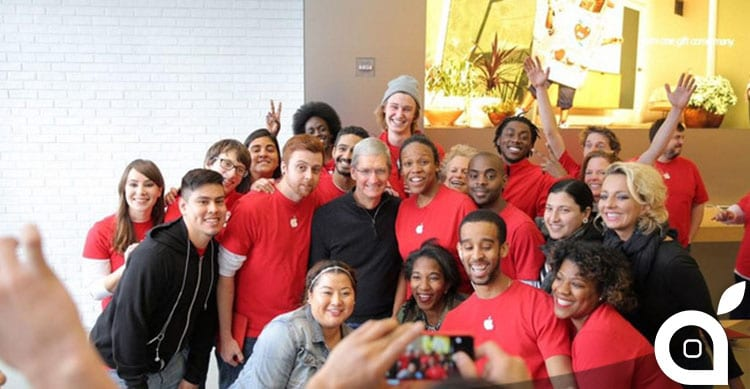 Tim Cook WorldAIDSDay apple store washington