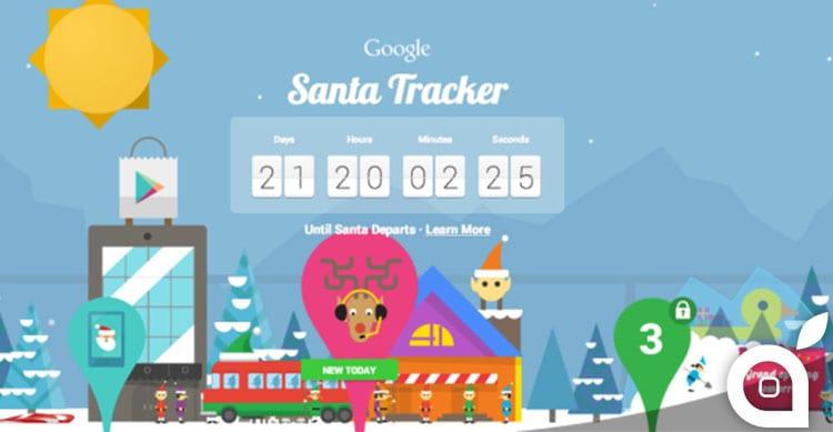 Ecco il modo che ha Google per intrattenere gli utenti per l'arrivo di Babbo Natale