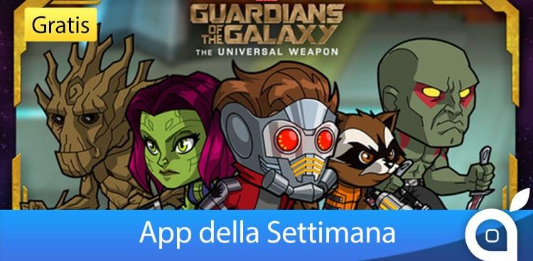 """Apple rende gratuita l'app """"Marvel Guardiani della Galassia: L'arma universale"""" per 7 giorni con l'App della Settimana. Approfittatene!"""