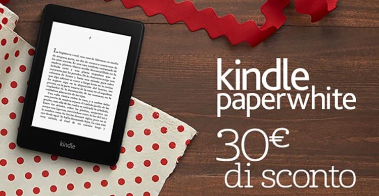 Amazon sconta il suo Kindle Paperwhite di 30€: un'ottima idea regalo