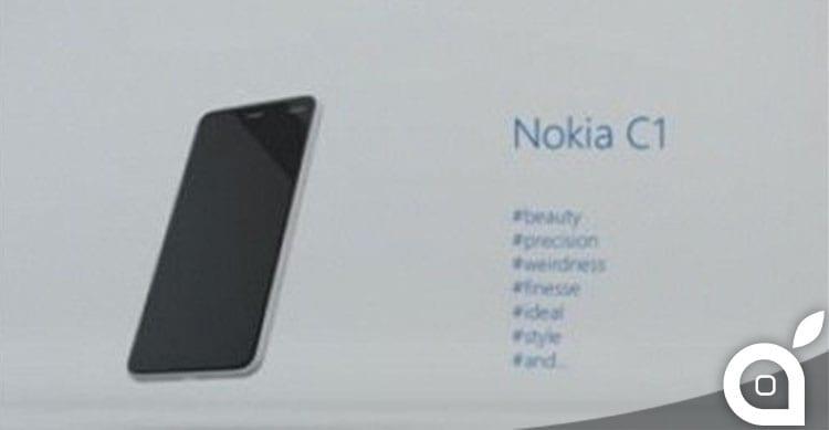 Nokia ritorna sul mercato con lo smartphone Android Nokia C1