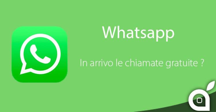 whatsapp chiamate gratuite