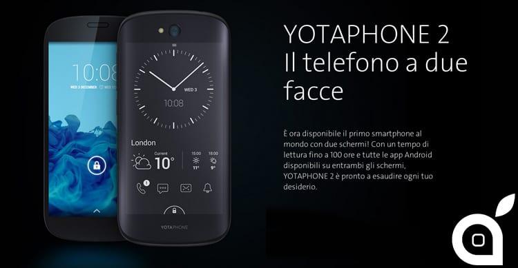 YOTAPHONE 2: è disponibile il primo smartphone al mondo con due display, bello ed innovativo [Video]