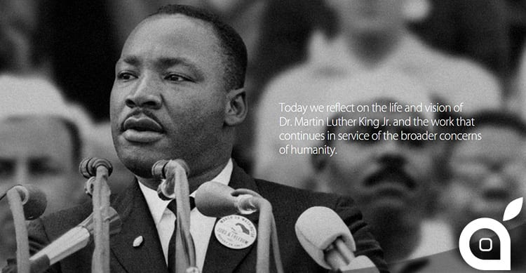 Apple celebra il Martin Luther King Day