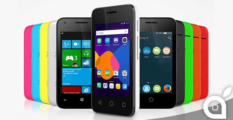 Alcatel annuncia il nuovo Pixi: l'unico smartphone con 3 sistemi operativi