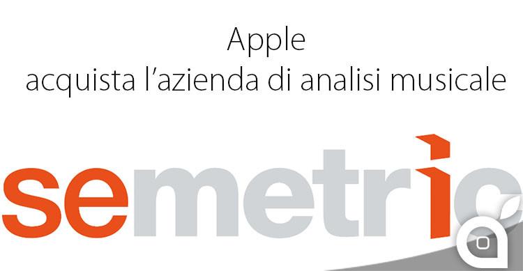 apple acquista semetric