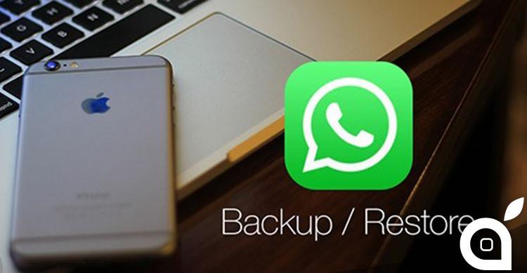 back up e ripristino di whatsapp