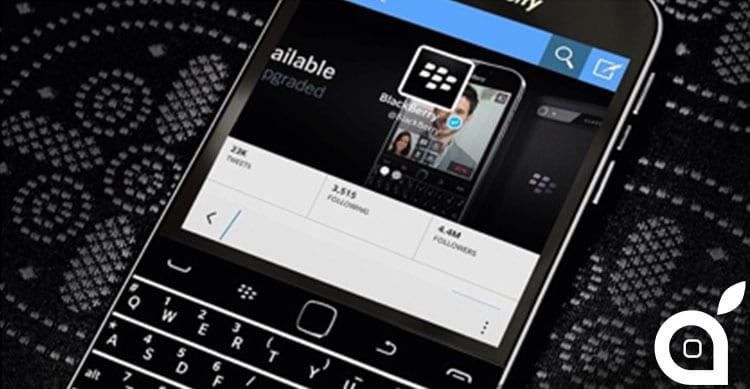 Il team di BlackBerry pubblica un post su Twitter… dal loro iPhone