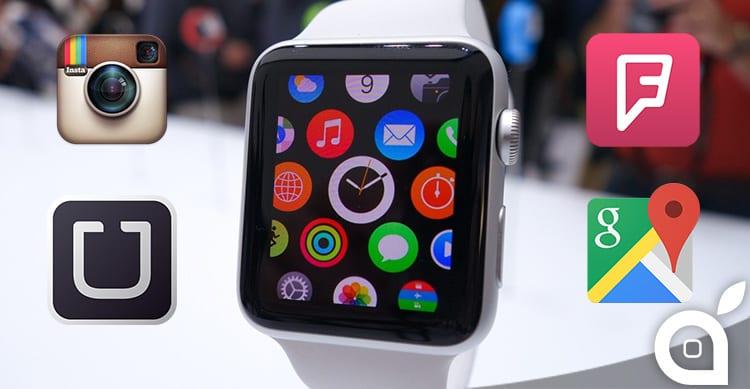 Instagram, Uber, Foursquare e Google Maps immaginate per Apple Watch