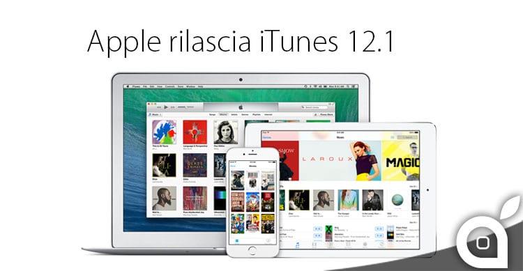 Apple rilascia iTunes 12.1: aggiunto nuovo widget interattivo per Yosemite