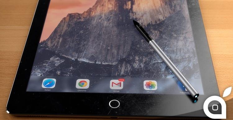 Ecco come potrebbe essere il pennino stylus di iPad Pro