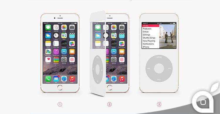 Una Cover trasforma l'iPhone 6 in un iPod Classic | Concept