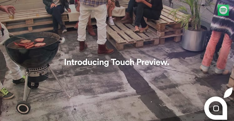 Spotify introduce la Touch Preview [Video]