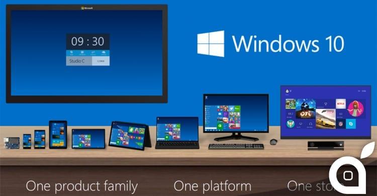 Windows 10 sarà disponibile come aggiornamento gratuito dal 29 Luglio