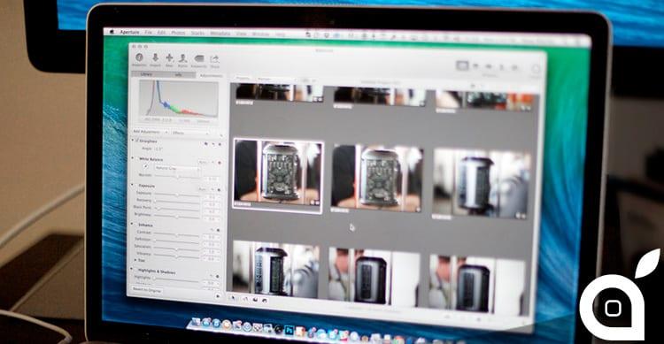 Apple invia ai possessori di Aperture una mail per invitarli a passare a Foto per OS X
