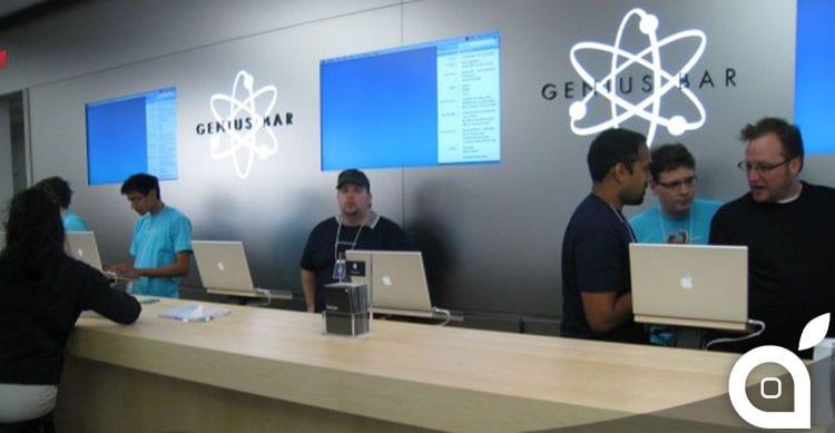 Nuovo Look: il Genius Bar potrebbe perdere il logo a forma di atomo
