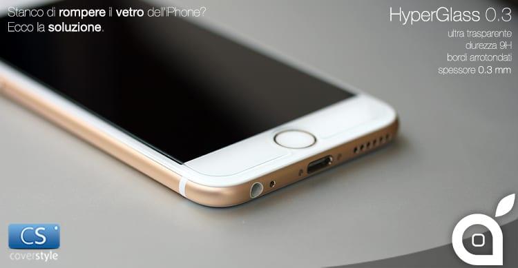 Deals iSpazio prova e sconta HyperGlass di CoverStyle: vetro temperato per iPhone 6/6plus
