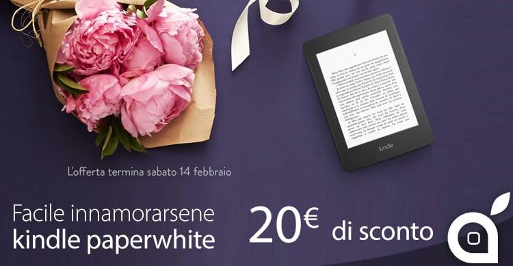 Amazon Kindle Paperwhite con 20€ di sconto, solo fino a domani 14 Febbraio