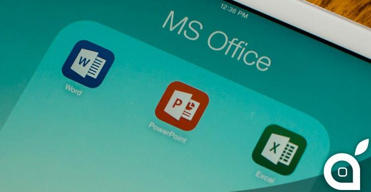 Microsoft aggiorna Excel, Word e PowerPoint per iOS introducendo il supporto ad iCloud