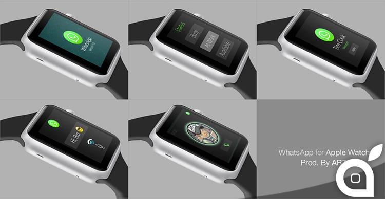 Ecco un concept di WhatsApp per Apple Watch
