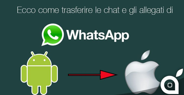 Ecco come trasferire le chat e gli allegati di WhatsApp da Android a iPhone