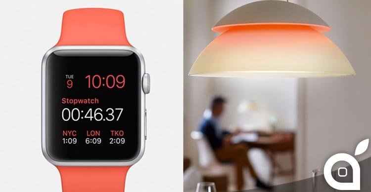 L'Apple Watch potrà controllare anche l'illuminazione della propria casa con Philips Hue