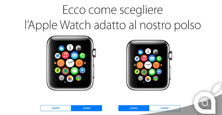 apple watch scelta misura