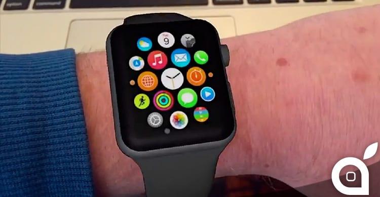 Provate Apple Watch sul vostro polso con una nuova applicazione che sfrutta la realtà aumentata [Video]