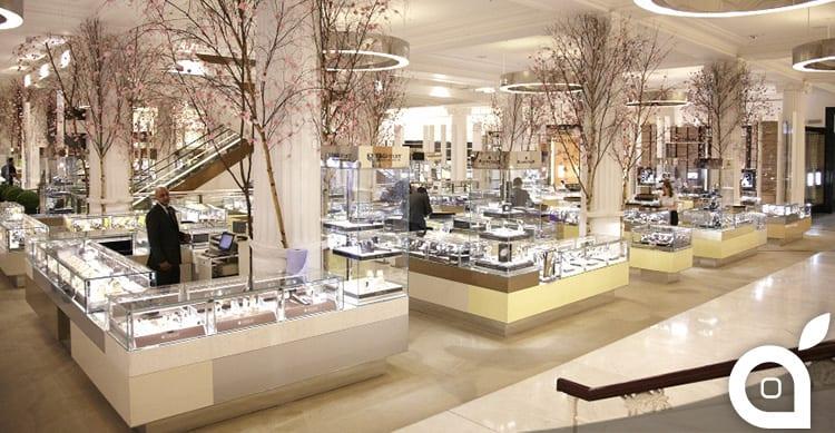 Pop-up store all'interno dei grandi magazzini Selfridges di Londra per Apple Watch