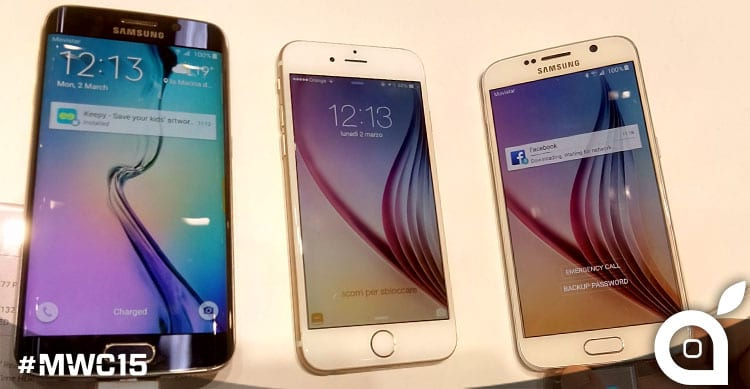 confronto iphone 6 galaxy s6