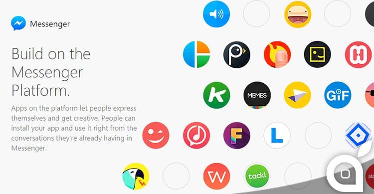Facebook permetterà di integrare le app di terze parti in Messenger