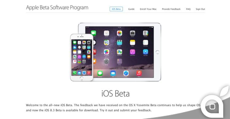 Apple rende pubbliche le Beta di iOS. Da oggi tutti possono provare liberamente iOS 8.3 e successivi