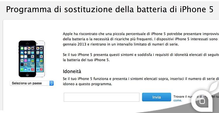 Apple estende il programma di sostituzione della batteria e del tasto Standby/Riattiva di iPhone 5