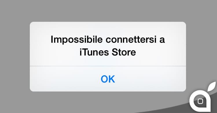 """""""Impossibile connettersi ad iTunes Store"""" problemi con i portali Apple ed il download delle app"""