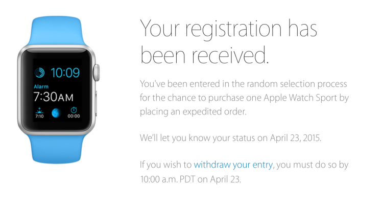 apple watch preorder developers