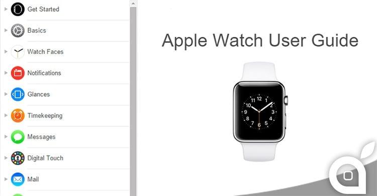 Apple pubblica il manuale utente di Apple Watch