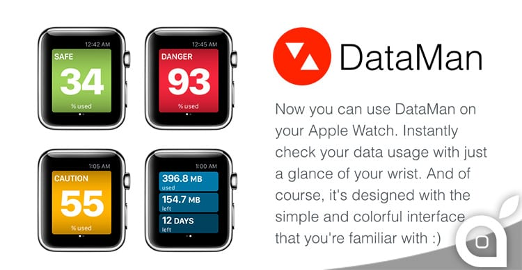 DataMan, l'app per monitorare l'utilizzo dei dati cellulare, arriva su Apple Watch
